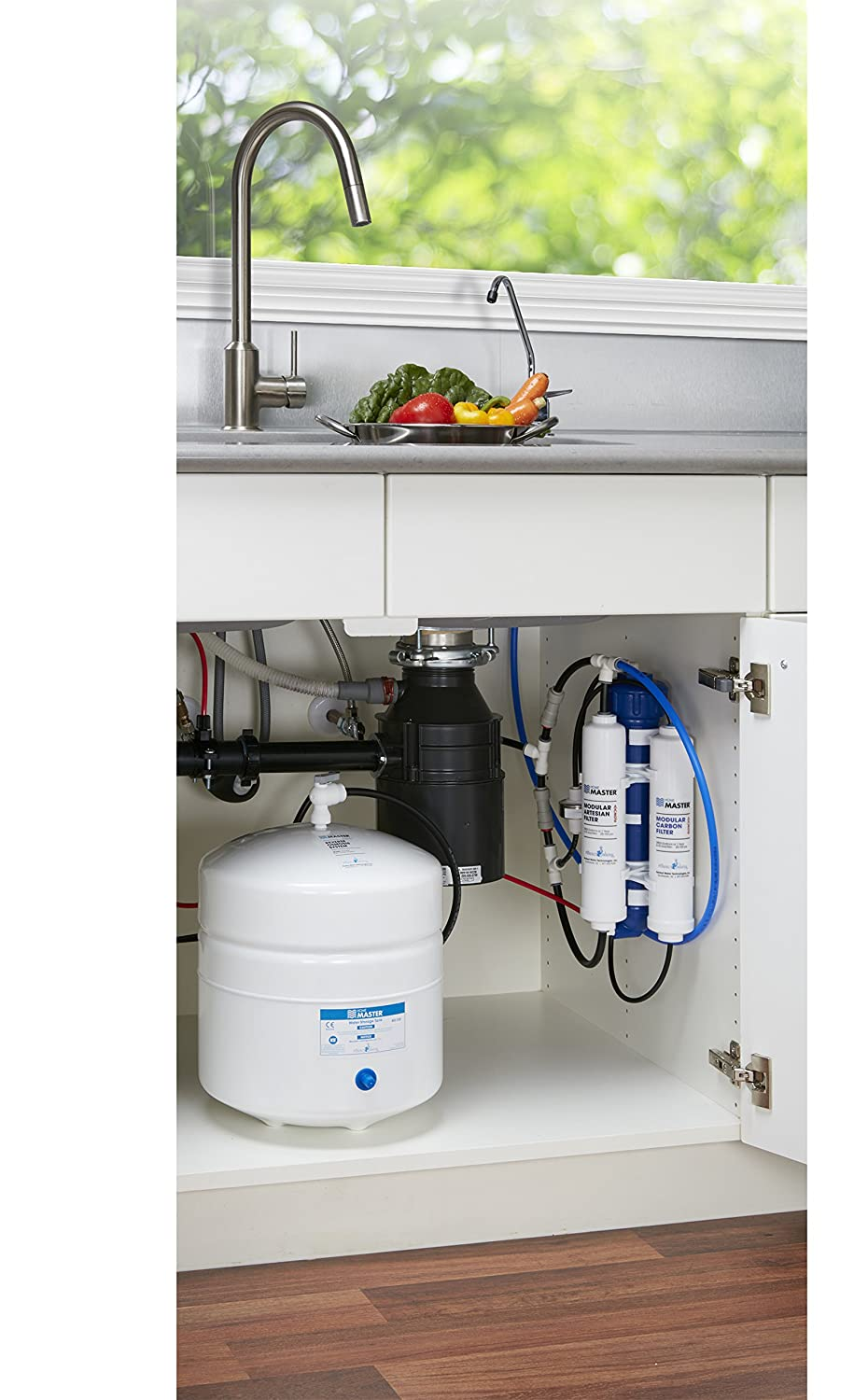 Home Master TMAFC Artesian Full Contact Reverse Osmosis Under Counter Water Filtration System, White