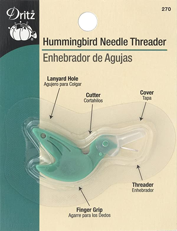 Dritz 270 Hummingbird Needle Threader (Color: Green)