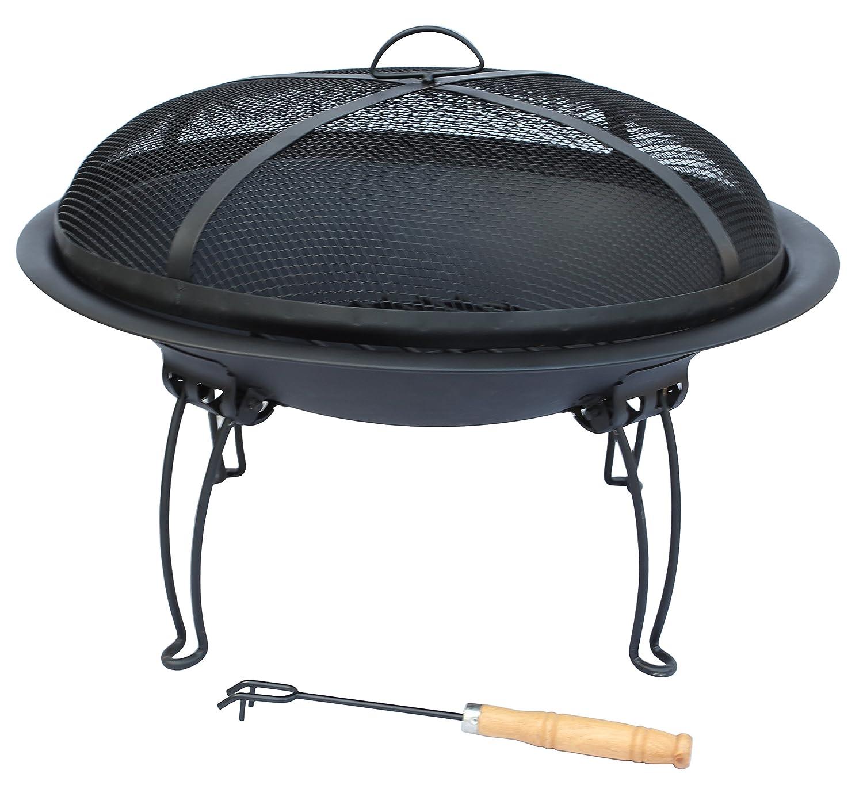 El Fuego andro-6161cm Durchmesser Andro Große Feuerschale aus Stahl–schwarz günstig