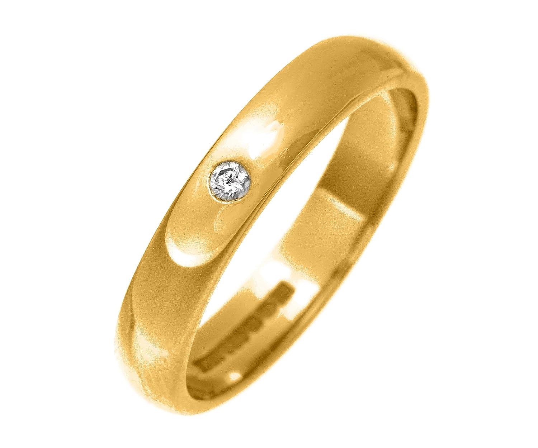 9 Karat (375) Gold 4mm Damen – Diamant Trauring/Ehering/Hochzeitsring Brillant-Schliff 0.05 Karat H-SI2 2,4 Gramm günstig online kaufen
