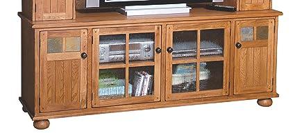 Sunny Designs 2751RO-TC Sedona 72-Inch TV Console, Rustic Oak Finish
