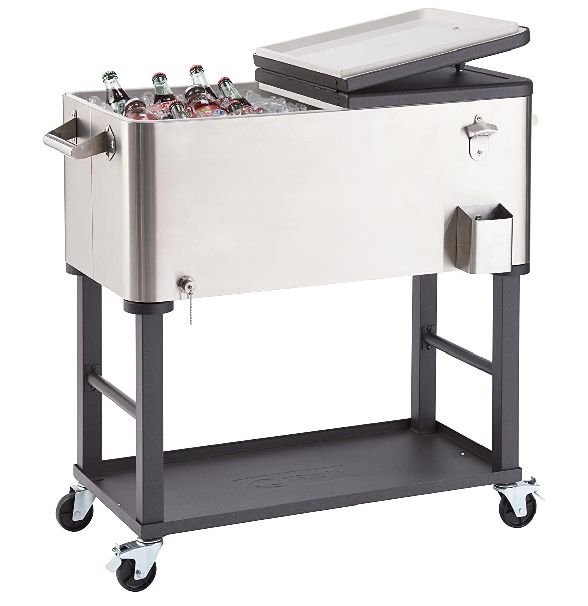 TRINITY TXK-0805 Outdoor Cooler, 100 quart, Stainless Steel