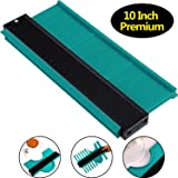 10 Inch Multi-functional Contour Gauge Plastic Profile Gauge Multifunctional Shape Duplicator Edge Shaping Measure Ruler for Professional Precise Measurement (3 cm Wider, Green) (Color: Green, Tamaño: 3 cm Wider)