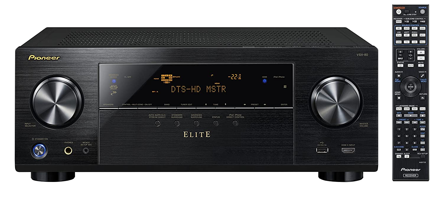 Pioneer Elite VSX-80 7.2-Channel Network A/V Receiver with HDMI 2.0