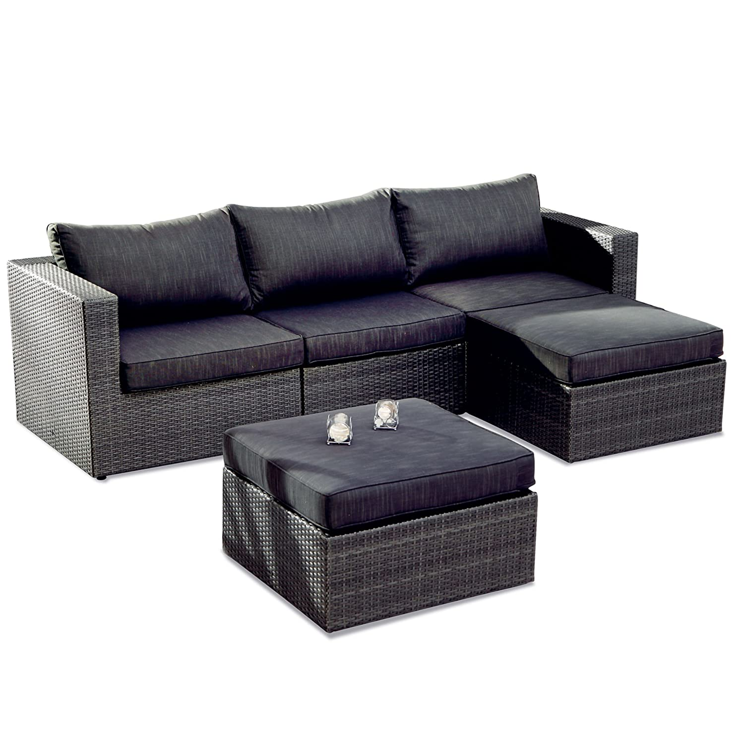 BEST 98895053 5-teilig Loungegruppe Aruba, anthrazit