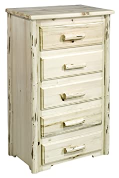Montana Woodworks Collection 5-Drawer Chest of Drawers, Ready to Finish