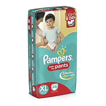 Image result for Pampers Extra Large Size Diaper Pants (48 Count)