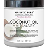 Majestic Pure Coconut Oil Hair Mask, Offers Natural Hair Care Treatment, Hydrating & Restorative Mask Restores Shine, Nourishes Scalp & Provides Deep Conditioning for Dry & Damaged Hair, 8.8 fl oz (Tamaño: 8.8 fl oz)