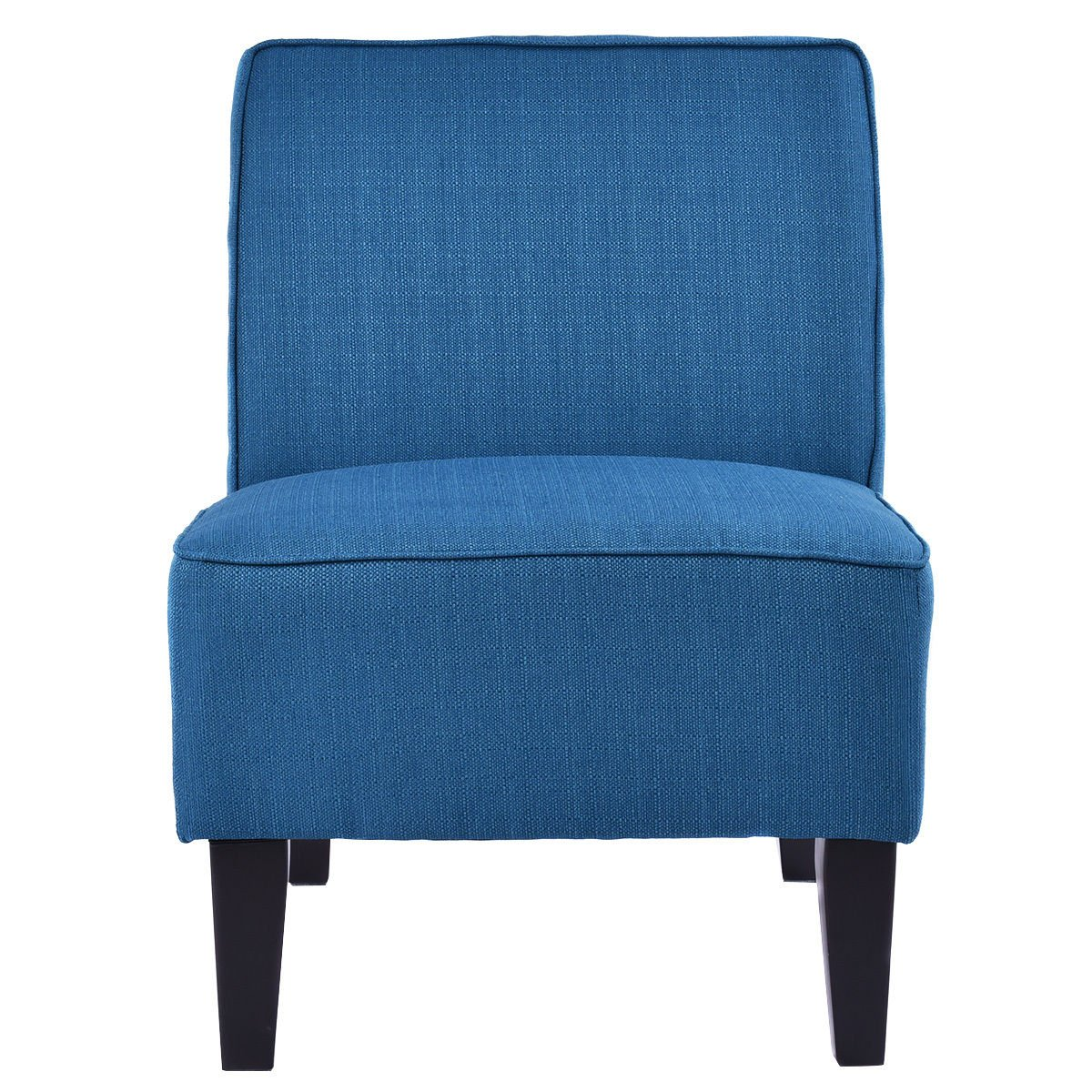Giantex Deco Solids Accent Chair Armless Living Room Bedroom Office Contemporary (Blue)