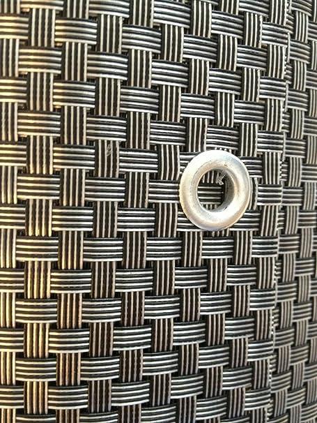 Smart décoration argent & Anthracite en polyrotin Pare-vue, Brise-vue Pare-vue, protection contre le vent pour balcon, jardin, balcon, Silber&Anthrazit, 1300x90cm