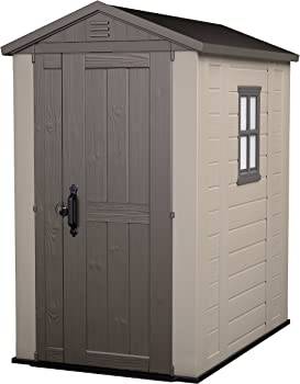 Keter 6x4ft Factor Outdoor Plastic Garden Storage Shed