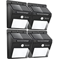 4-Pack Baxia Technology Outdoor Waterproof Motion Sensor Solar Bright Security Lights (Black)