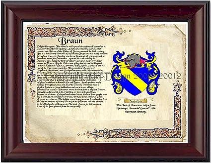Braun Family Braun Coat of Arms/ Family