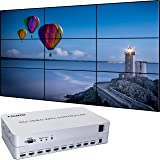 Video Wall Controller 3x3 Processor 1080P HDMI 1.3 with 1 HDMI Input and 9 Outputs 13 Display Modes Including 1x1,1x2,1x3, 1x4, 2x1, 2x2, 2x3, 2x4, 3x1, 3x2, 3x3, 4x1, 4x2 (Tamaño: 3x3)