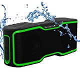 AOMAIS Wireless Bluetooth Speakers with Built-in Microphone and LED Lights (F2-green)