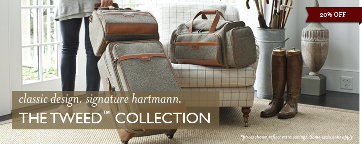 classic design. signature hartmann.  The Tweed Collection