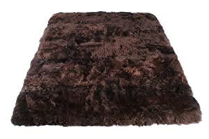 Eco Friendly New Zealand/Australia Real Sheepskin Longhair Rectangle Area Rug Throw Carpet 200 x 150 cm (brown)       review