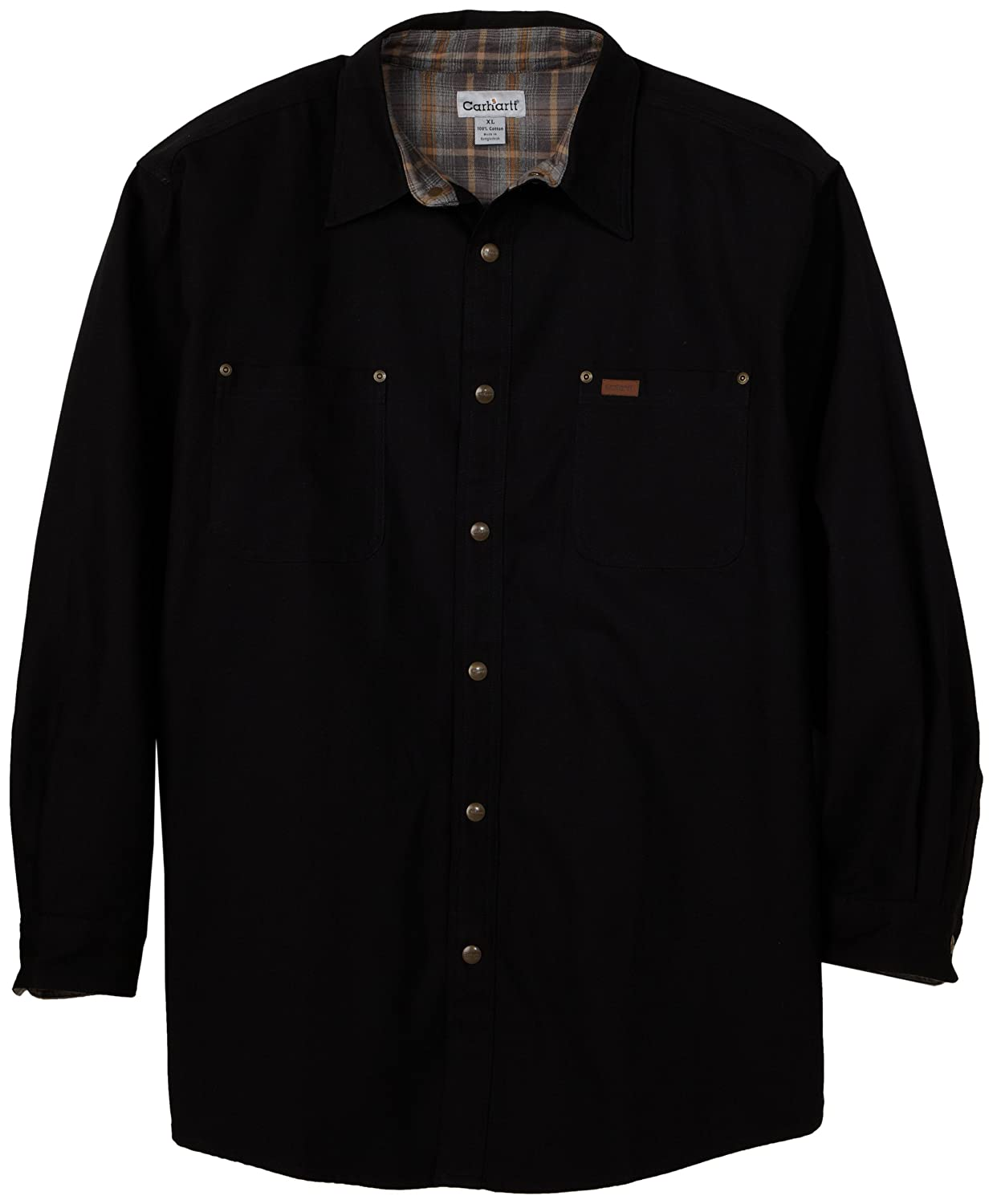 Black Canvas Shirt-Jacket by Carhartt