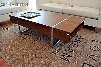 Design Couchtisch N-111 Walnuss / Nussbaum Carl Svensson