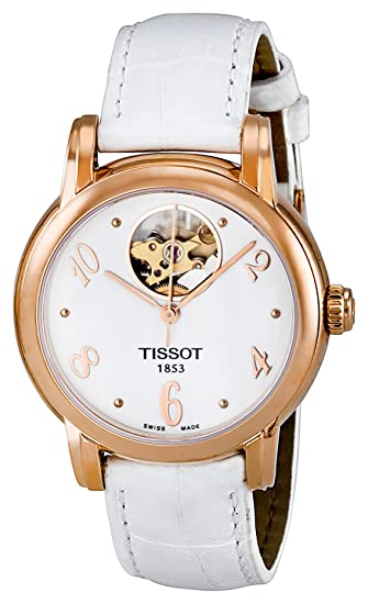 Tissot Women's T050.207.36.017.00 White with Skeletal Display Dial Watch