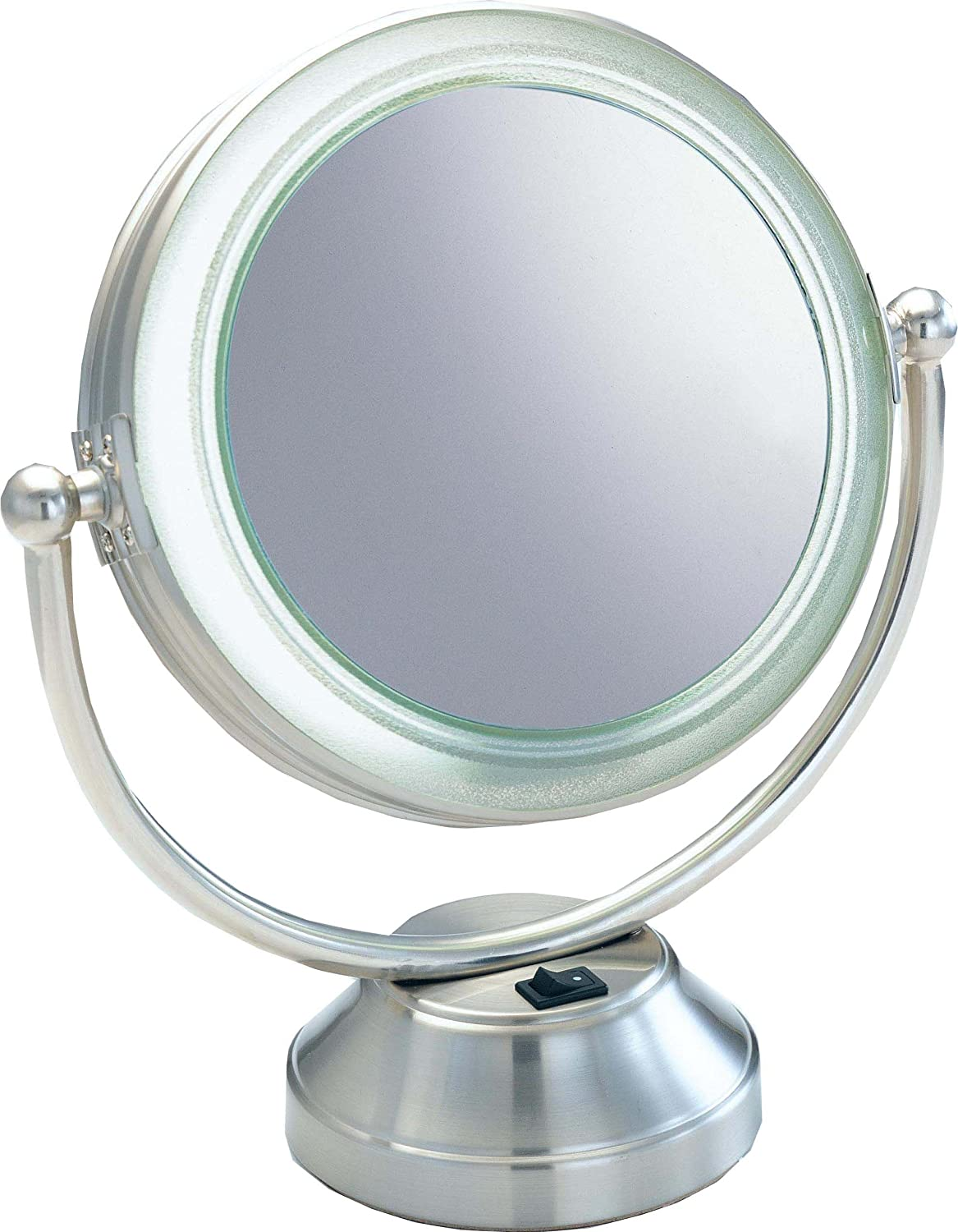 in l mirrors mirror finish variable x w nickel makeup vanity lighting zadro lighted p satin led