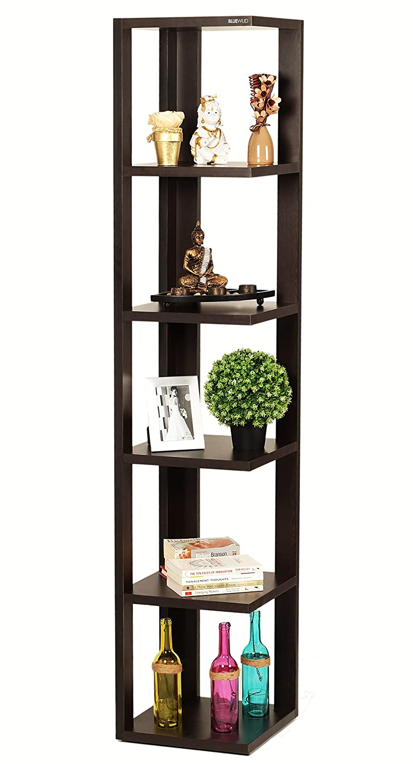 Bluewud Albert Floor Standing Corner Wall Shelf Display