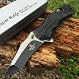 SNAKE EYE TACTICAL Rescue Style Assisted Opening Knife with Clip (Color: Snake Eye)