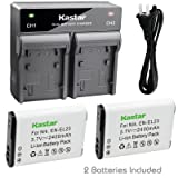 Kastar 2x Battery + Fast Dual Charger for Nikon EN-EL23 and Nikon Coolpix B700 Coolpix P600 Coolpix P610s Coolpix P610 Coolpix P900 Coolpix P900s Coolpix S810c Digital Cameras (Tamaño: 1 Fast Dual Charger + 2 Batteries)