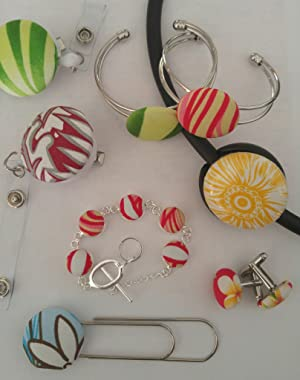 100 Buttons to Cover - Made in USA - Self Cover Buttons with wire eyes - size 60 with Tool (Tamaño: Size 60 Wire - Qty 100)