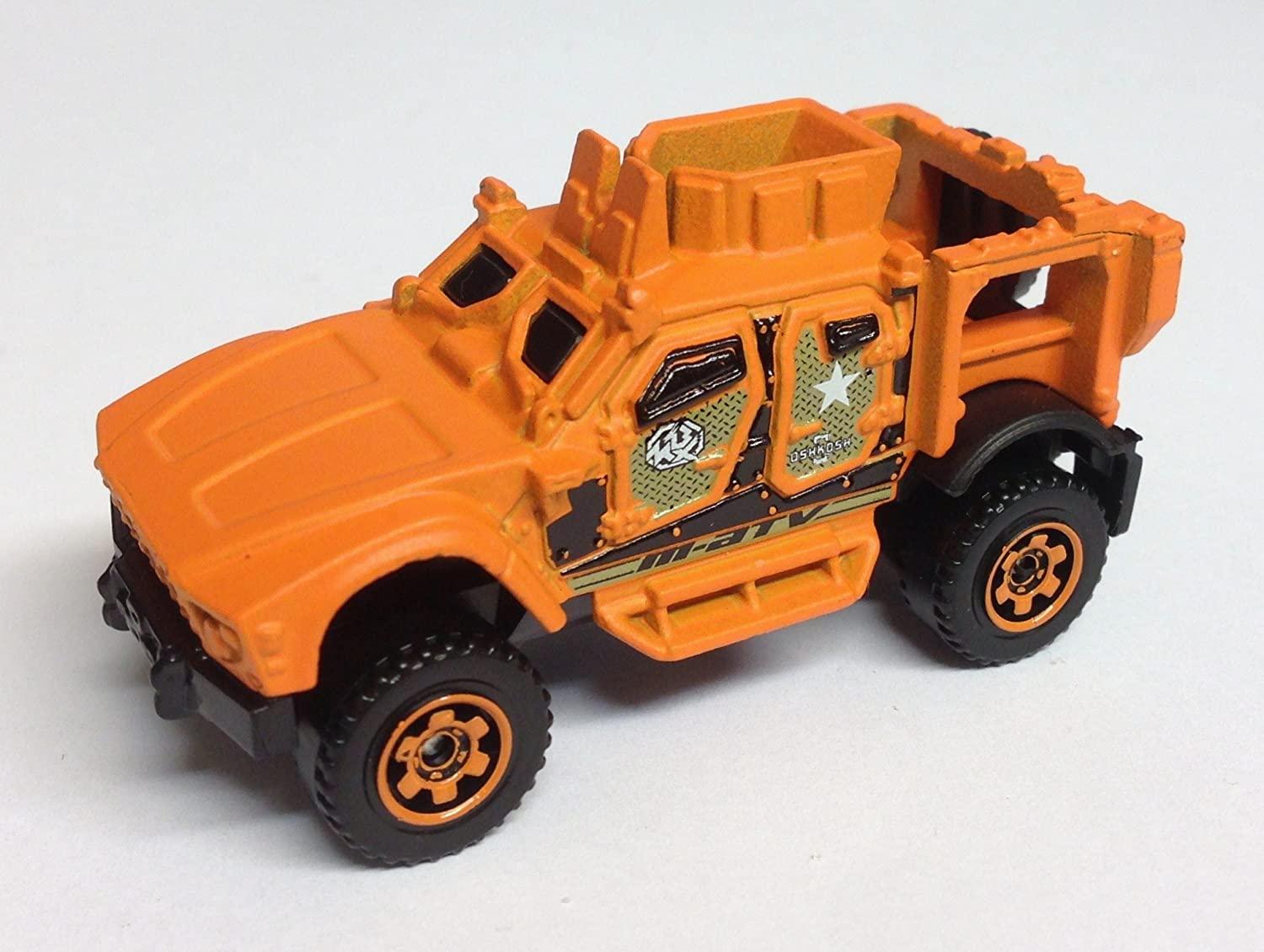 Matchbox-Autos MB855 – 1:98 th Skala OSHKOSH M-ATV-Geländewagen in orange günstig kaufen