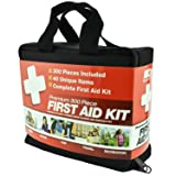 M2 BASICS 300 Piece (40 Unique Items) First Aid Kit w/Bag | FREE First Aid Guide | Emergency Medical Supply | For Home, Office, Outdoors, Car, Camping, Travel, Survival, Workplace (Color: Black, Tamaño: 300 Piece)