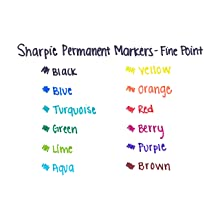 Sharpie Fine Point Permanent Markers, Box of 12 Markers, Black (30001)