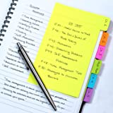 Redi-Tag Divider Sticky Notes, Tabbed Self-Stick Lined Note Pad, 60 Ruled Notes, 4 x 6 Inches, Assorted Neon Colors (29500) (Color: Assorted, Tamaño: 1 Pack)