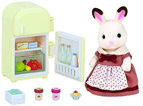 Sylvanian Families chocolat lapin mère /chocolate rabbit mother set