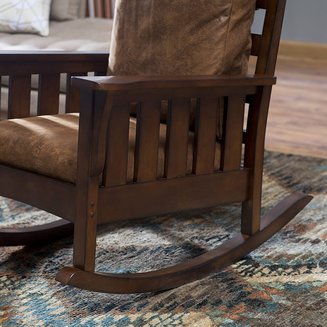 Belham Living Remington Mission Rocker - Walnut 5