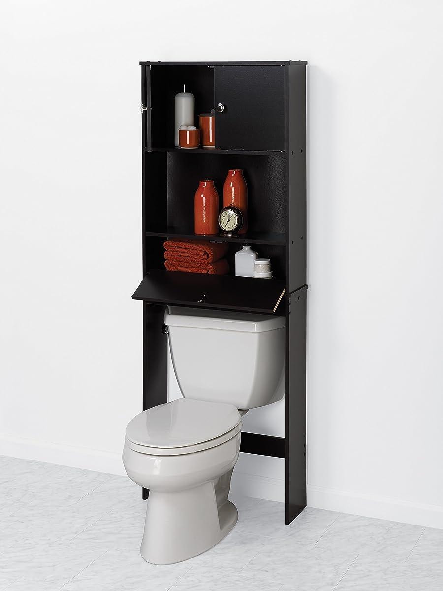Zenna Home 9401CH, Drop Door Bathroom Spacesaver, Espresso