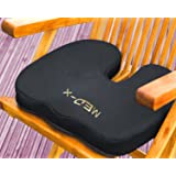 Coccyx Cushion Pillow For Chairs   Pain Relief From Back Sciatica Pinched Nerve Piriformis Syndrome Lumbosacral Spondylosis Fibromyalgia and Bruised Tailbone   Medical Grade by Med-X (Color: Black, Tamaño: large)