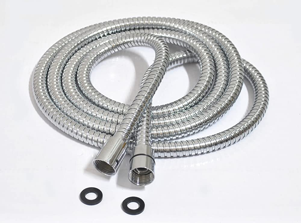 Portable Shower Heads With Hose : Extra long stainless steel handheld shower hose ft