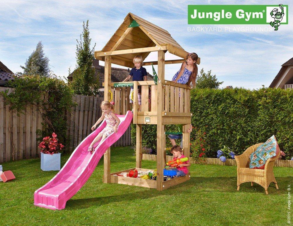 Spielturm Jungle House – Set mit Feuerwehrstange Sandkasten Kletterturm – Jungle Gym (inkl. Holzpaket) bestellen