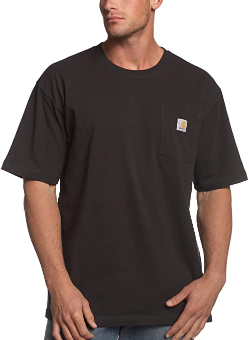 Carhartt Men's Workwear Pocket T-Shirt K87,  Black,  Small Regular