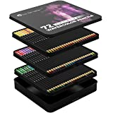 Castle Art Supplies 72 Watercolor Pencils Set for Adults and Professionals - Premium Artist Lead with Vibrant Colors and Beautiful Blending Effects with Water