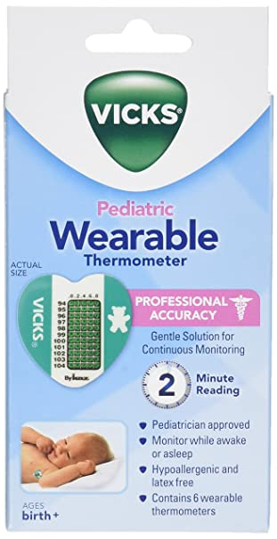 Vicks Wearable Thermometers, 6 thermometers