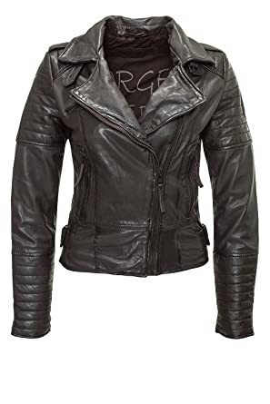 Freaky Nation Damen Lederjacke Sporty FN20866