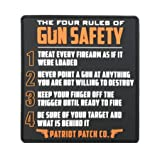 Patriot Patch Co - 4 Rules of Gun Safety - Patch (Color: Black)