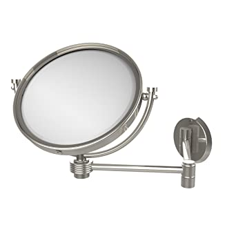 Allied Brass WM-6G/4X-PNI 8-Inch Wall Mirror with 4x Magnification, Extends Up to 14-Inch, Polished Nickel
