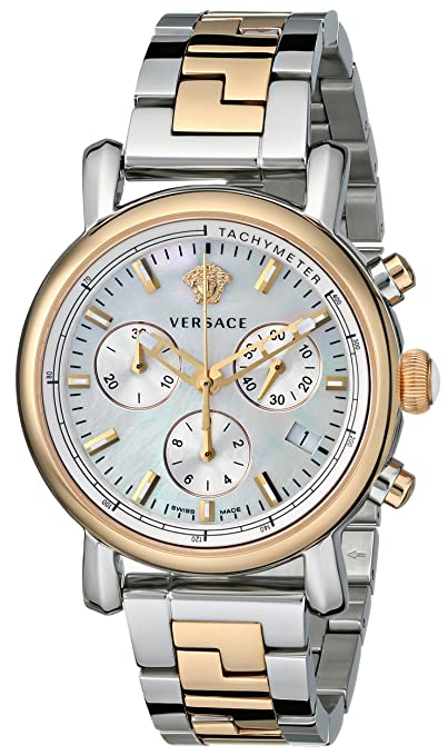 Versace Women's VLB090014 Day Glam Two-Tone Stainless Steel Watch with Link Bracelet -  womens watches - watches womens - ladies watches - watches for women