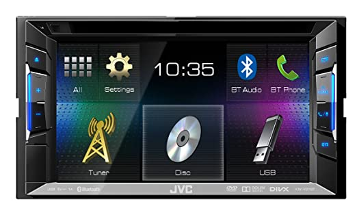 JVC KW-V21BTE Autoradio Noir