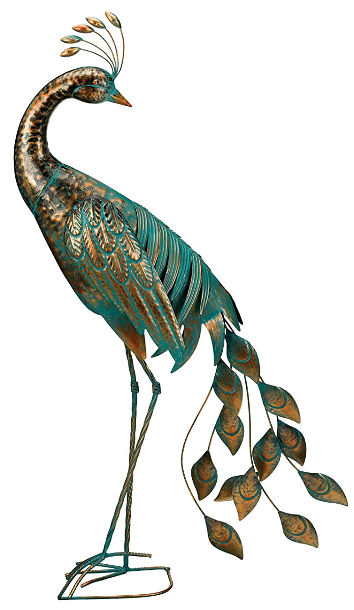"Regal Art & Gift Preening Patina Peacock Decor, 40"""