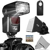 Kit de flash Altura Photo (AP-UNV1) Speedlite para cámaras Canon Nikon Sony Panasonic Olimpus Fujifilm Pentax Sigma Minolta Leica y cualquier cámara digital con un St