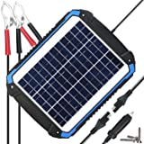 SUNER POWER 12V Solar Car Battery Charger & Maintainer - Portable 12W Solar Panel Trickle Charging Kit for Automotive, Motorcycle, Boat, Marine, RV, Trailer, Powersports, Snowmobile, etc. (Tamaño: 12W)